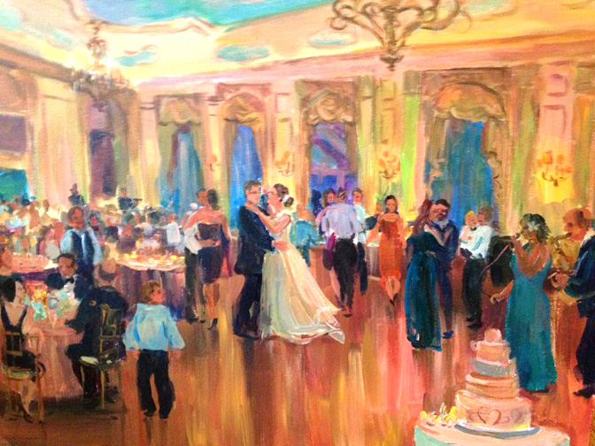 live event wedding paintingmarictnynj